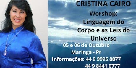 Cristina Cairo em Maringa ingressos