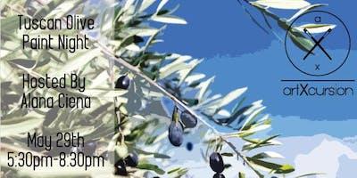 Artxcursion presents: Tuscan Olive Paint Night!