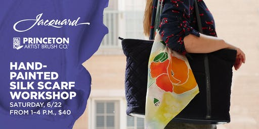 Hand-Painted Silk Scarf Workshop at Blick Wheaton