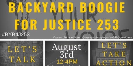 Back Yard Boogie for Justice 253 tickets