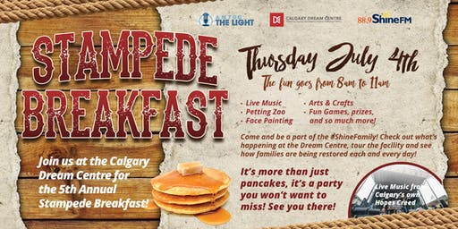Calgary Dream Centre Stampede Breakfast 2019