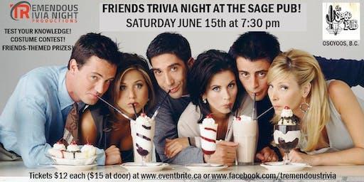 Friends Trivia Night at The Sage Pub, Osoyoos!