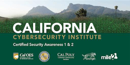 C)SA1&2 — Certified Security Awareness 1 & 2 /OnSite
