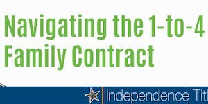 Navigating the 1-to-4 Family Contract - McKinney
