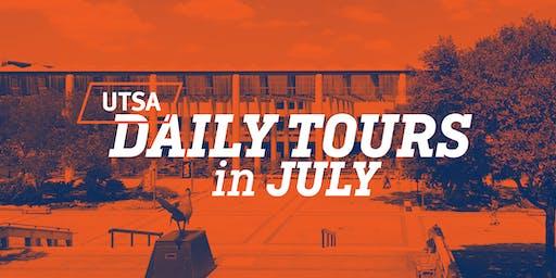 UTSA Daily Tours - July 2019