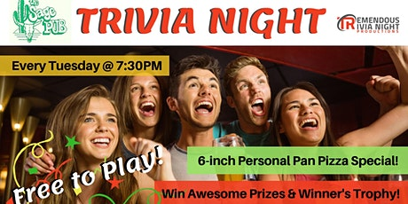 Tuesday Trivia at The Sage Pub, Osoyoos tickets