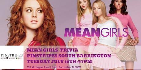 Mean Girls Trivia at Pinstripes South Barrington tickets