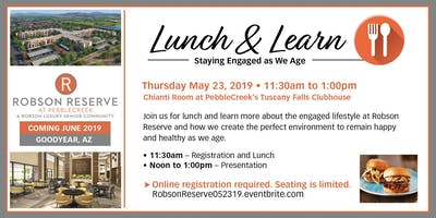 Lunch and Learn: Staying Engaged As We Age  05.23.19