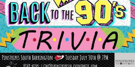 '90s Pop Culture Trivia at Pinstripes South Barrington tickets