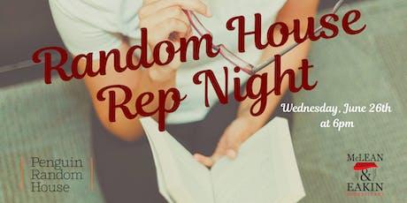 Random House Rep Night tickets