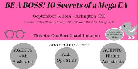 Stephanie Brackett of Ops Boss Coaching Presents: Be A Boss! 10 Secrets of A Mega EA tickets