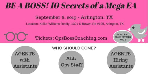 Stephanie Brackett of Ops Boss Coaching Presents: Be A Boss! 10 Secrets of A Mega EA