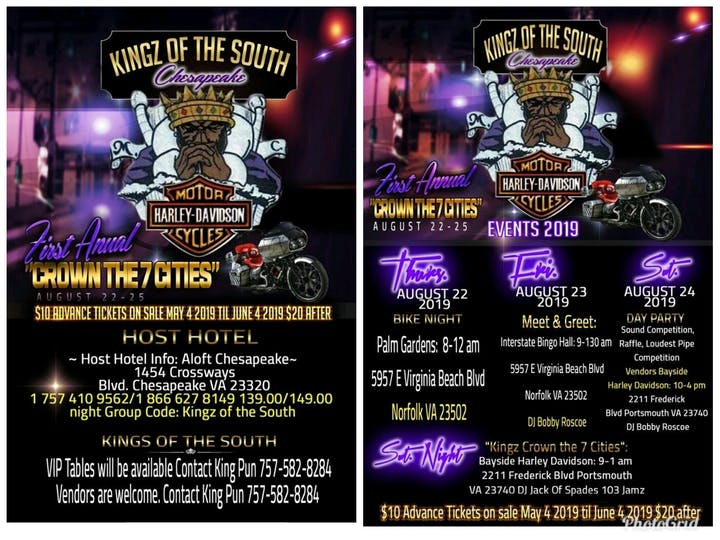 KINGZ OF THE SOUTH CHESAPEAKE CROWN THE 7 CITIES Tickets, Thu, Aug