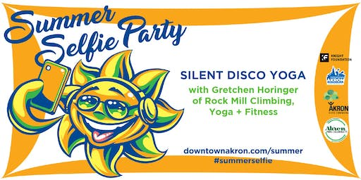 Silent Disco Yoga (at the Summer Selfie Party)