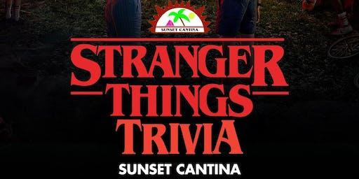 Stranger Things Trivia at Sunset Cantina