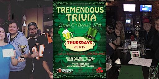 Tremendous Trivia Thursdays at Kelly O'Bryan's West Kelowna!