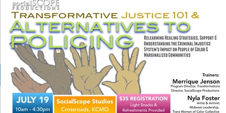 Transformative Justice 101 & Alternatives to Policing Training tickets