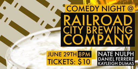 Comedy Night @ Railroad City Brewing Co. tickets