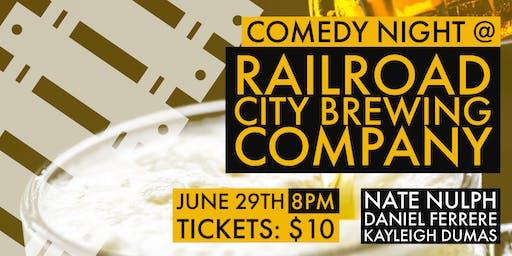 Comedy Night @ Railroad City Brewing Co.