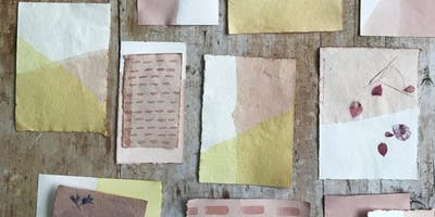 Natural Dyeing and Eco-Stamping on Paper