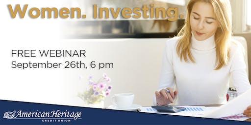 Women. Investing. Webinar