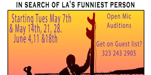 """Open Mike """"In search of LA's Funniest Person"""" at the LA Stand Up Comedy Festival"""