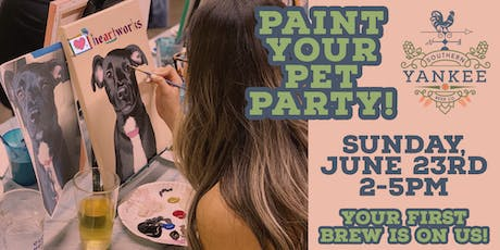 Paint your Pet Party @ Southern Yankee Beer Co.! tickets