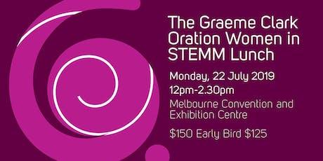 2019 Graeme Clark Oration - Women in STEMM Lunch tickets