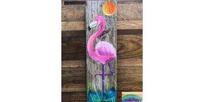 Flamingo on Pierwood! La Plata, Greene Turtle with Artist Katie Detrich!