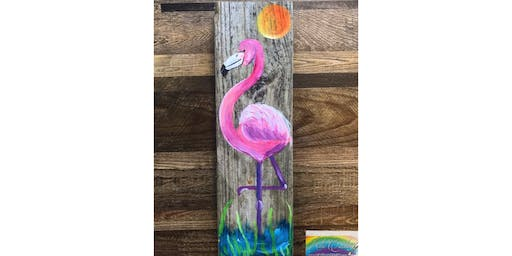 Flamingo on Pierwood! La Plata, Greene Turtle with Artist Katie Detrich!