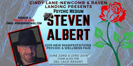 Private Reading-Steven Albert: Del Lago 2019 New Manifestations and Psychic Fair tickets