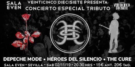 ESPECIAL TRIBUTO A DEPECHE MODE, THE CURE Y HÉROES DEL SILENCIO EN SEVILLA entradas
