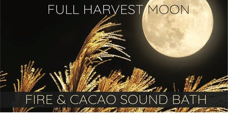 Full Harvest Moon ~ Cacao & Fire Ceremony Sound Bath tickets