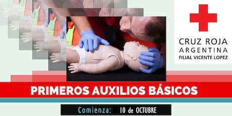 Curso de Primeros Auxilios Pediatricos,19 DE OCTUBRE (8.30 a 13.30hs) entradas