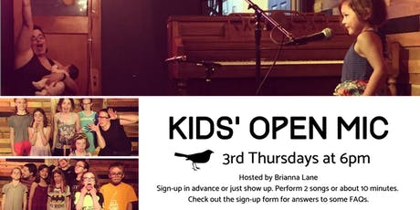 Kids' Open Mic tickets