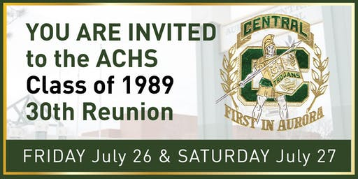 30th Reunion - ACHS Class of 1989
