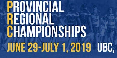 Provincial Regional Championships (PRCs) tickets