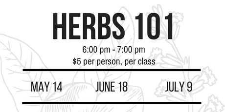 Herbs 101 with Sarah! tickets