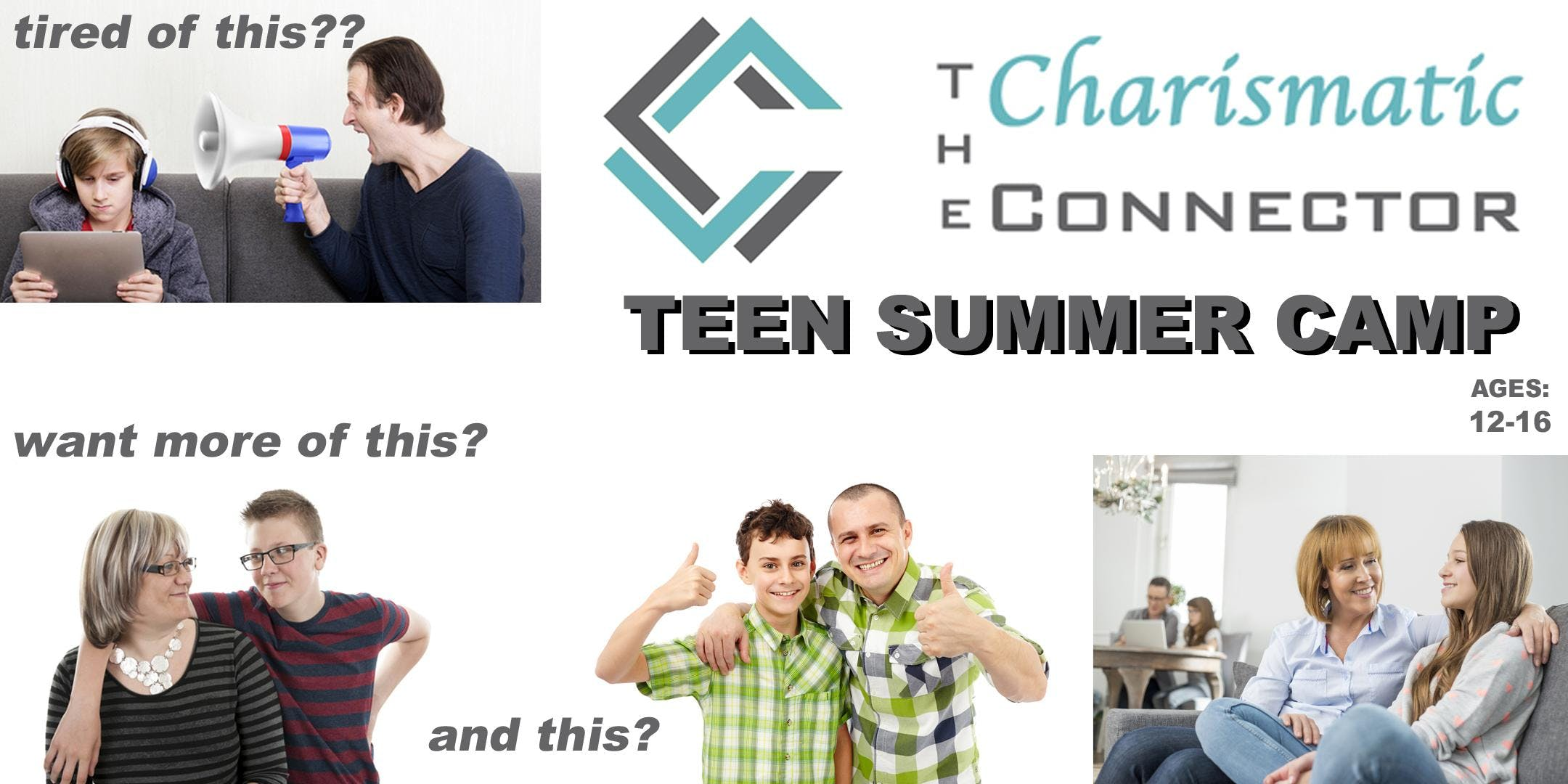 TEEN Charismatic Connector - 3-day Summer Camp