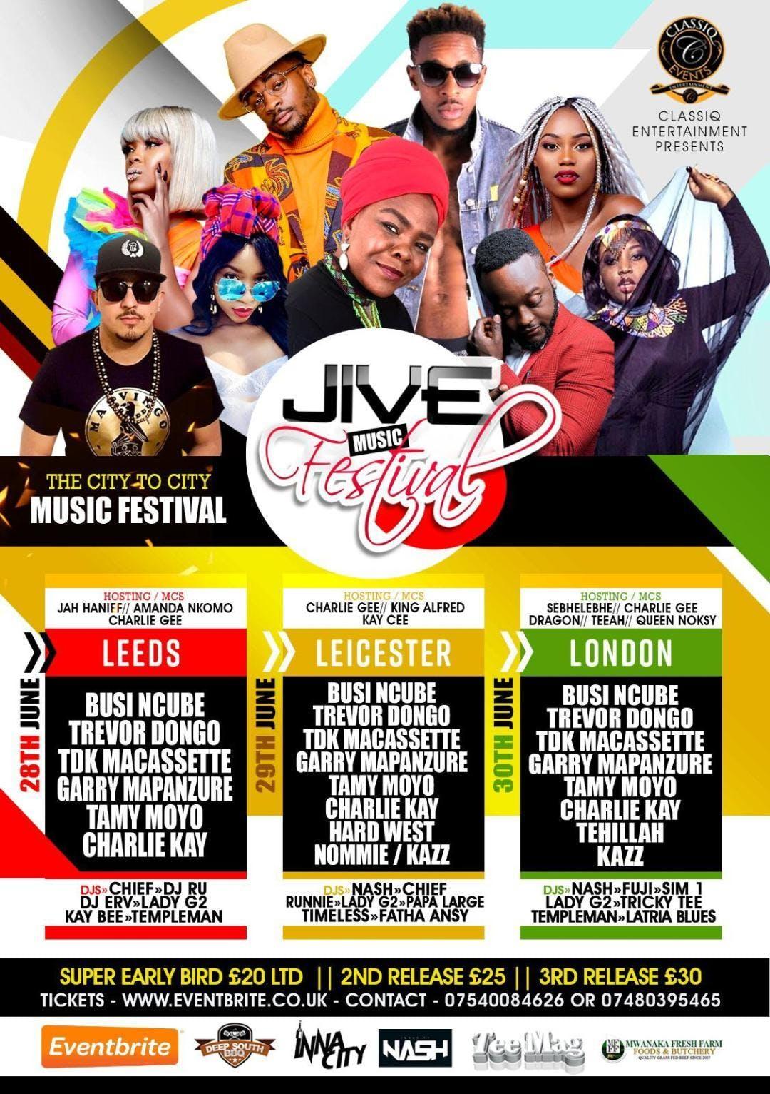 JIVE MUSIC FESTIVAL 2019 || LONDON SHOW