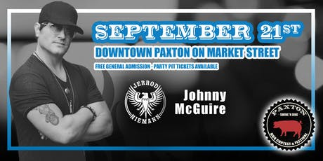 Jerrod Niemann with Johnny McGuire at Paxton Swine 'N Dine tickets