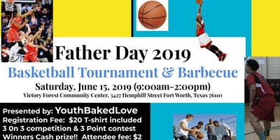 Father's Day Men's Basketball Tournament & Barbecue: 3 on 3 & 3 Point Contest! Age14-Adults: Cash Prizes!