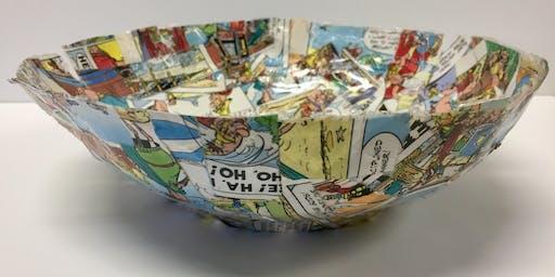 Hello Holidays: Paper mache bowls
