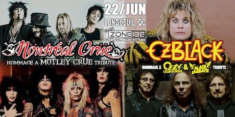 MÖTLEY CRÜE and OZZY & BLACK SABBATH tributes -by Möntréal Crüe and OzBlack tickets