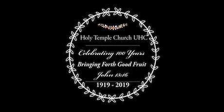 Holy Temple Church Centennial Celebration Banquet tickets
