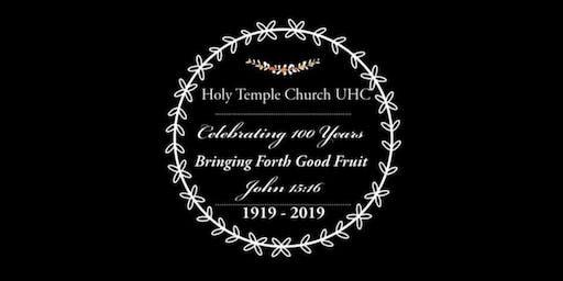 Holy Temple Church Centennial Celebration Banquet