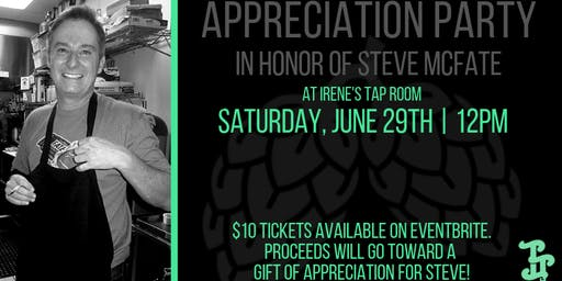 Appreciation Party In Honor of Steve McFate!