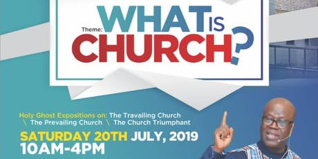What Is Church tickets