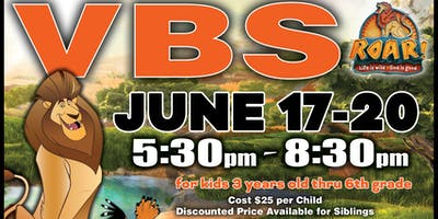 VBS - ROAR! Life is wild! God is good!