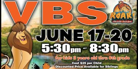 VBS - ROAR! Life is wild! God is good! tickets